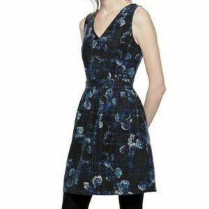 Thakoon Navy Blue Plaid Sweater Dress 8